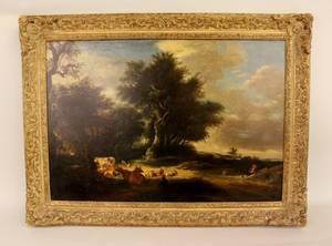 Large Pastoral Landscape Painting