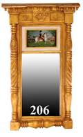 206 American 19th Century Federal Style Gilt Mirror
