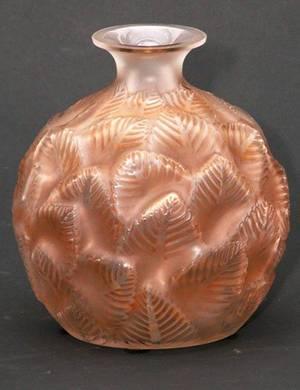 248 R Lalique Ormeaux Art Deco Vase