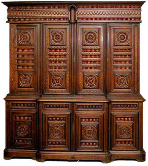 220 19th Century French Inlaid Breakfront