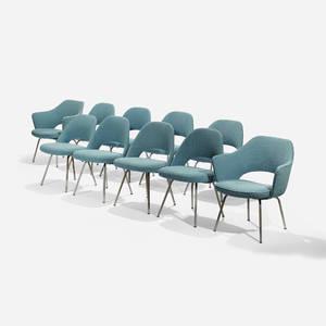 Eero Saarinen   dining chairs set of ten