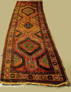 285 Semi Antique Heriz Runner Carpet