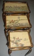 3185 Set of Three Equestrian Stack Tables