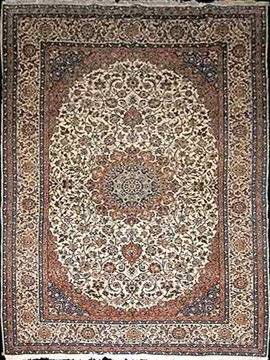 213 Very Fine Iranian Persian Hand Knotted Isfahan Rug