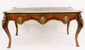 Louis XVI Style Bureau Plat wBronze Mounts