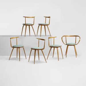George Nelson  Associates   Pretzel chairs model 5890 set of six