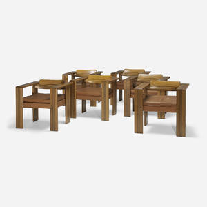 Afra and Tobia Scarpa   Artona armchairs set of six