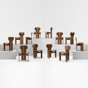 Afra and Tobia Scarpa   Artona chairs set of twelve