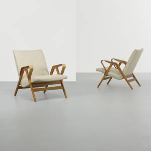 In the manner of Ico Parisi   lounge chairs pair