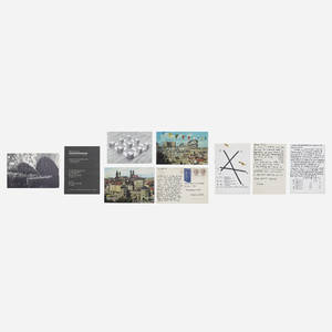 Carl Andre b1935  collection of postcards and ephemera