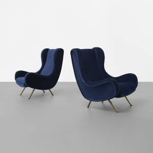 Marco Zanuso   Senior lounge chairs pair