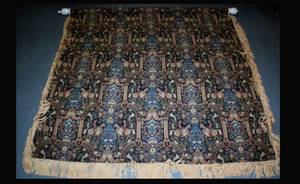 1357 WovenTapestry with Recurring Conjoined Vignettes
