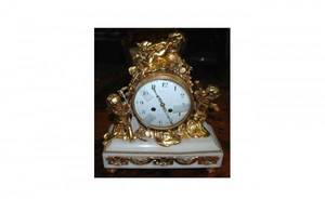 1204A Fr 19th C Gilded Bronze Figural Mantle Clock