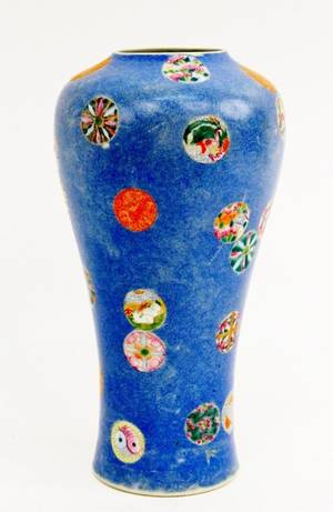 Chinese Famille Rose Table Vase