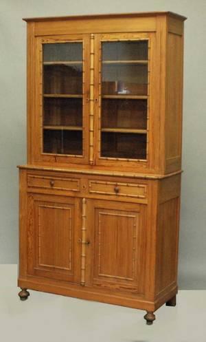 281 Regency Style Oak Bookcase CabinetEnglish 19th Ce