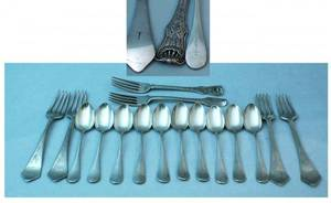 1448 Sixteen Pieces of Silverplated Flatware including