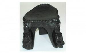 426 African Tribal Carved Stool with Three Carved