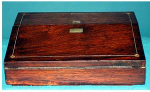 1454 Antique English Mahogany Lap Desk
