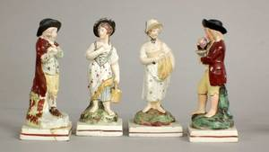 10 SET OF FOUR PORCELAIN FIGURES OF THE FOUR SEASONS