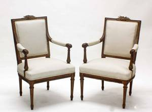 29 PAIR OF LOUIS XVI STYLE GILTWOOD FAUTEUILS