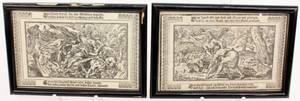 Two 17th C German Biblical Prints