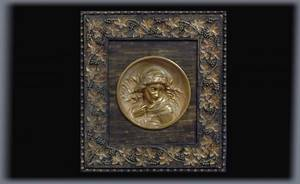 60 Antique BasRelief Plaque Mounted in a Victorian Fr