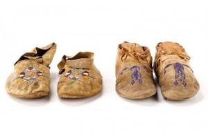 Group Of 2 Pairs Southern Plains Moccasins