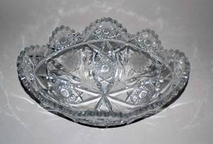 198 GROUP OF THREE CUT GLASS BOWLS