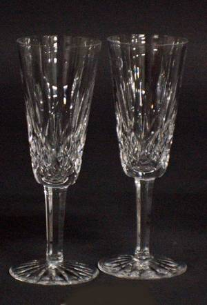 103 SET OF FIVE WATERFORD CRYSTAL CHAMPAGNE FLUTES