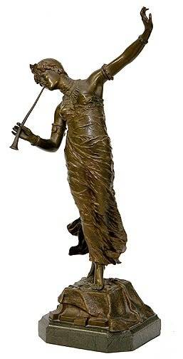270 Fr Rosse Bronze Sculpture Scantily Clad Lady Dan