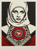 SHEPARD FAIREY American 1970 ARAB WOMAN 2012