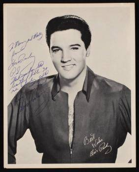 ELVIS PRESLEY INSCRIBED PHOTOGRAPH