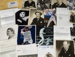 MICKEY ROONEY CELEBRITY SIGNED PHOTOGRAPHS AND LETTERS