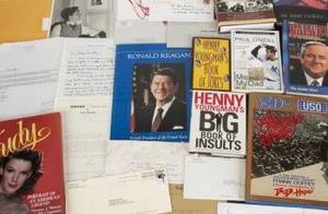 MICKEY ROONEY CELEBRITY SIGNED BOOKS AND LETTERS