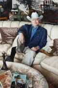 LARRY HAGMAN SIGNED PAINTING
