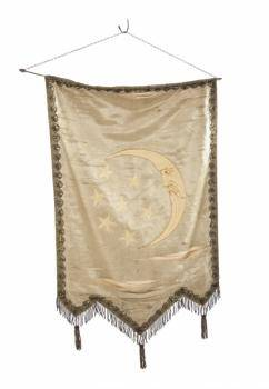 ANTIQUE MOON AND STARS BANNER