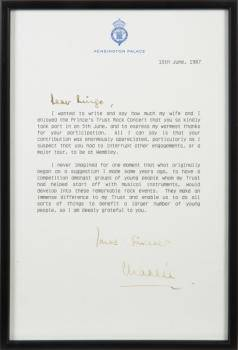 RINGO STARR PRINCE OF WALES LETTER