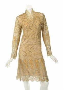 LUISE RAINER LACE DRESS WITH PHOTOGRAPH AND NOTE