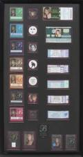 BARBRA STREISAND CONCERT TICKET BACKSTAGE PASSES TICKETS AND BUTTONS DISPLAY