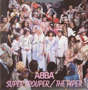 ABBA SIGNED ALBUM COVER