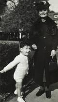 FRANK ZAPPA CHILDHOOD PHOTOGRAPH WITH HIS GRANDMOTHER
