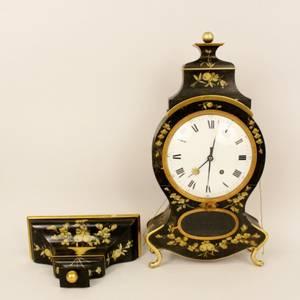 19th C Swiss Neuchatel Clock wWall Bracket