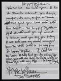 THE TURTLES HAPPY TOGETHER HANDWRITTEN LYRICS