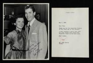 JERRY LEWIS LETTER AND SIGNED PHOTOGRAPH