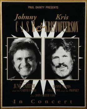 JOHNNY CASH AND KRIS KRISTOFFERSON AUSTRALIAN CONCERT EPHEMERA