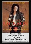 MICHAEL JACKSON HISTORY TOUR POSTER FROM THE ALOHA STADIUM