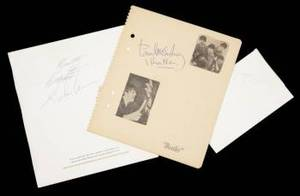 THE BEATLES SIGNED ITEMS