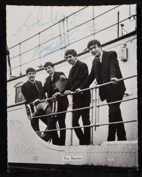 THE BEATLES SIGNED PUBLICITY PHOTOGRAPH