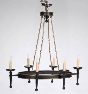 MEAT LOAF GOTHIC STYLE IRON CHANDELIER