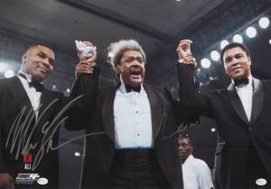 MUHAMMAD ALI AND MIKE TYSON SIGNED PHOTOGRAPH